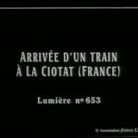L'Arrivée d'un train en gare de La Ciotat {Auguste & Louis Lumière, 1895}